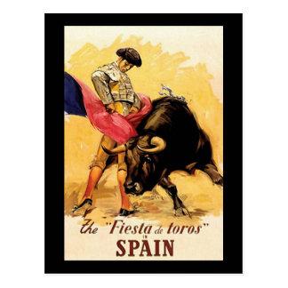 Die Fiesta De Toros In Spanien Postkarte