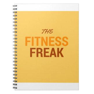 Die Fitness Freak-Orange Notizblock