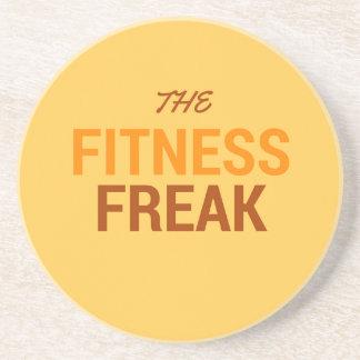 Die Fitness Freak-Orange Sandstein Untersetzer