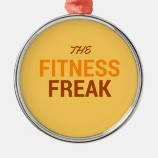 Die Fitness Freak-Orange Silbernes Ornament