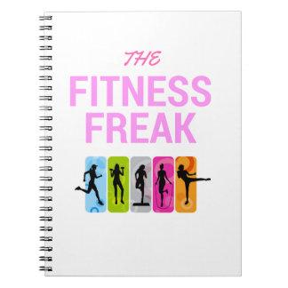Die Fitness Freak-Rose Spiral Notizblock