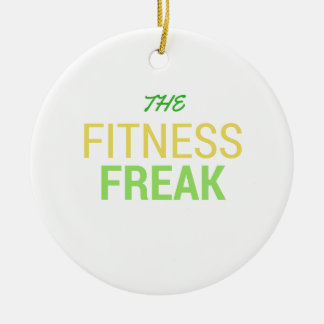 Die Fitness Freak-Zitrone Keramik Ornament