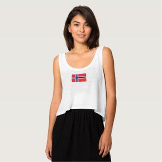 Die Flagge der Frauen von Norwegen-Trägershirt Tank Top