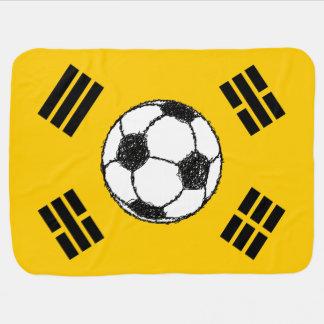 Die Flagge der Fußball-Skizze Südkoreas | Puckdecke