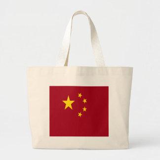 Die Flagge der Volksrepublik China Jumbo Stoffbeutel