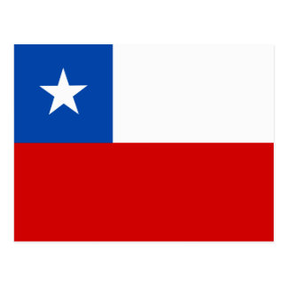 Die Flagge des Chilen Postkarte