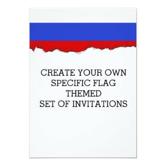 Die Flagge des Russen Karte