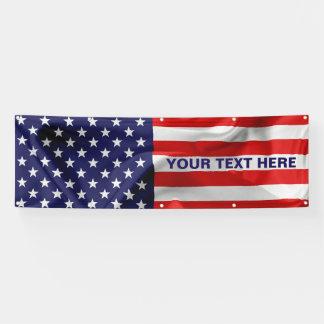 Die Flagge des USA. Banner