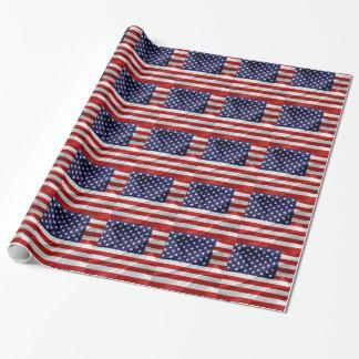 Die Flagge des USA Geschenkpapier