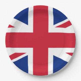 Die Flagge des Vereinigten Königreichs Pappteller
