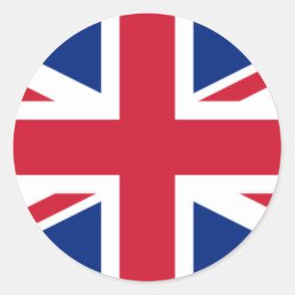 Die Flagge des Vereinigten Königreichs Runder Aufkleber