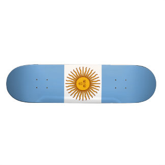 Die Flagge von Argentinien Bedrucktes Skateboard