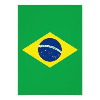 Die Flagge von Brasilien 12,7 X 17,8 Cm Einladungskarte