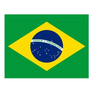 Die Flagge von Brasilien Postkarte