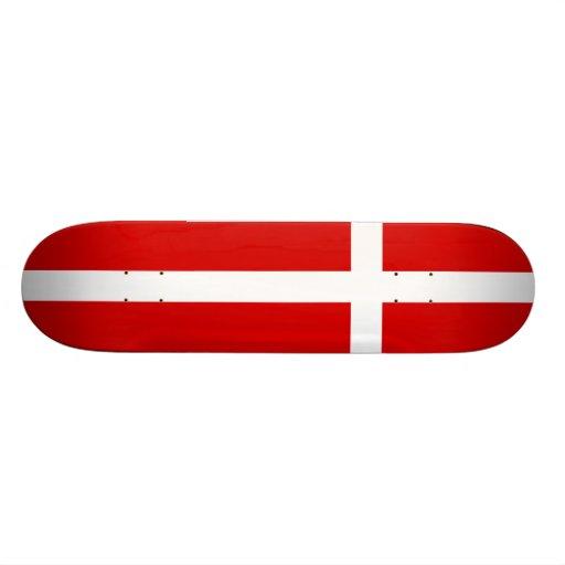 Die Flagge von Dänemark Personalisiertes Skateboarddeck