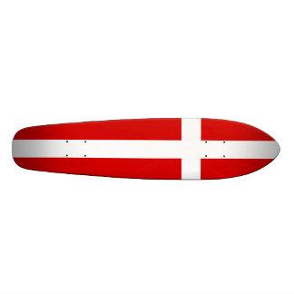 Die Flagge von Dänemark Skateboard Deck