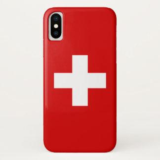 Die Flagge von der Schweiz iPhone X Hülle