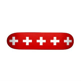 Die Flagge von der Schweiz Skateboardbrett