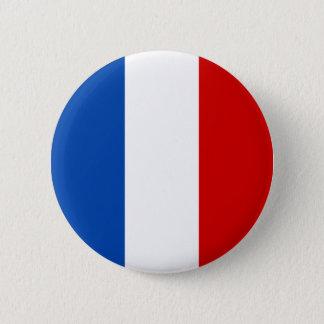 Die Flagge von Frankreich Runder Button 5,7 Cm