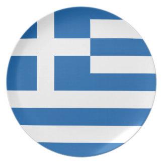 Die Flagge von Griechenland Party Teller