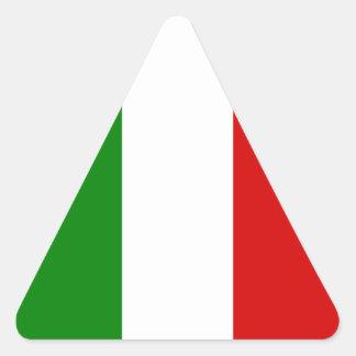 Die Flagge von Italien Dreieckiger Aufkleber