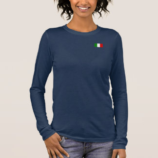 Die Flagge von Italien Langarm T-Shirt