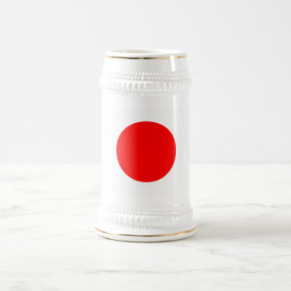 Die Flagge von Japan Bierglas