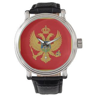 Die Flagge von Montenegro Armbanduhr