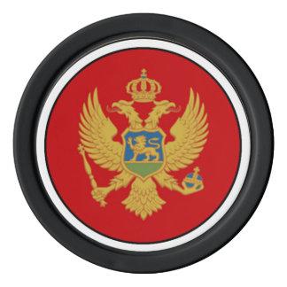 Die Flagge von Montenegro Poker Chips Set