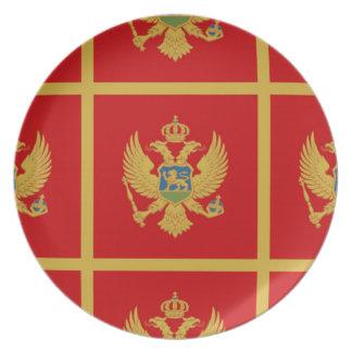 Die Flagge von Montenegro Teller
