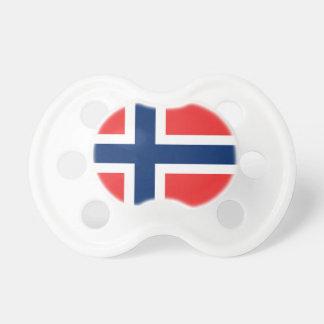 Die Flagge von Norwegen - Skandinavien Schnuller