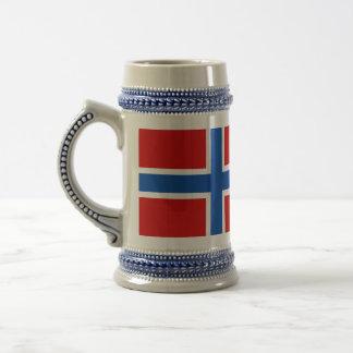 Die Flagge von Norwegen Bierkrug