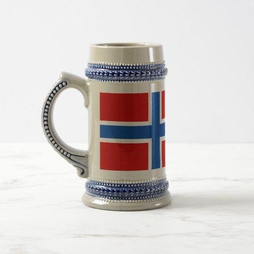Die Flagge von Norwegen Tassen