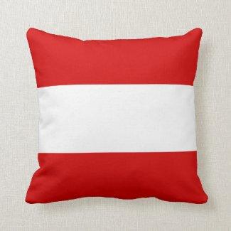 Die Flagge von Österreich Kissen