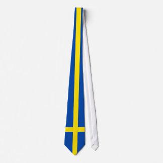 Die Flagge von Schweden Individuelle Krawatten