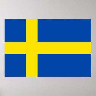 Die Flagge von Schweden Poster