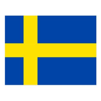 Die Flagge von Schweden Postkarte