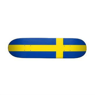 Die Flagge von Schweden Individuelle Skatedecks