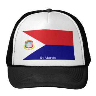 Die Flagge von St Martin Truckermütze