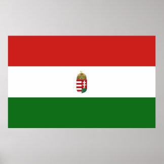 Die Flagge von Ungarn Poster