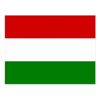 Die Flagge von Ungarn Postkarte