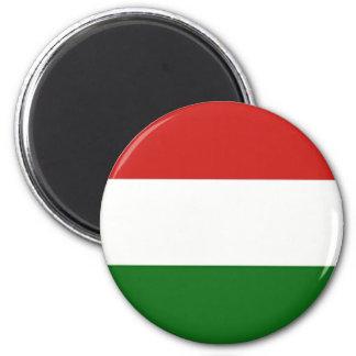 Die Flagge von Ungarn Runder Magnet 5,1 Cm