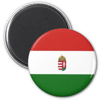 Die Flagge von Ungarn Runder Magnet 5,7 Cm