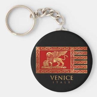 Die Flagge von Venedig, Italien Schlüsselanhänger