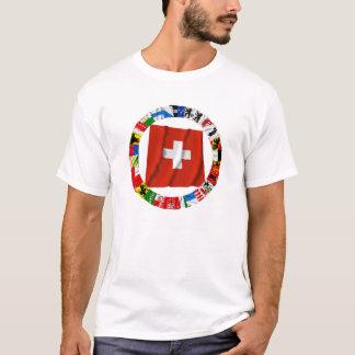 Die Flaggen der Bezirke von der Schweiz T-Shirt