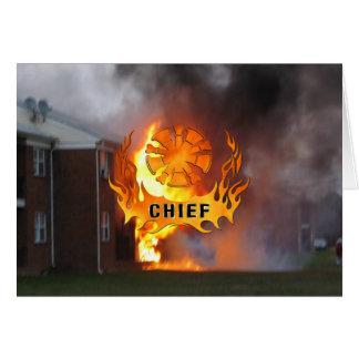 Die Flammen des Leiters Mitteilungskarte
