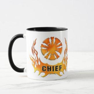 Die Flammen des Leiters Tasse