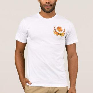 Die Flammen eines Leiters T-Shirt