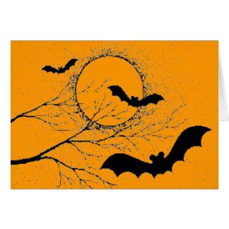 Die Fledermaus von Halloween - Karte