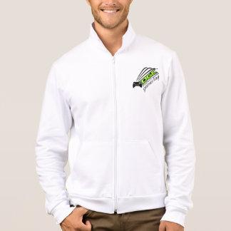 Die Fleece-Reißverschluss der Männer mit Logo u. Jacke